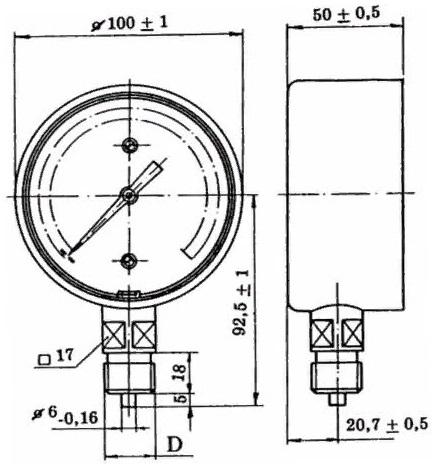 МТК манометры, вакуумметры и мановакууметры без борта