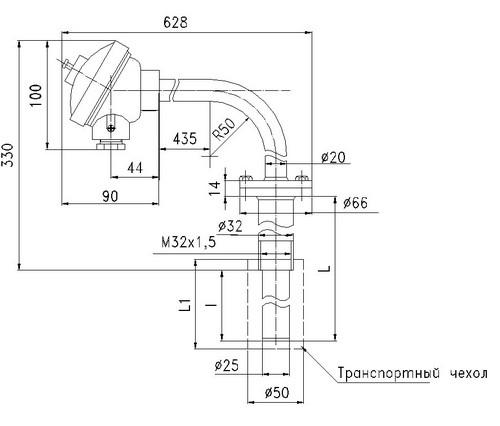 Габаритные размеры термопар ТПП/ТПР-0192-07С