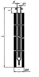 Габаритные размеры термопар ТПП-, ТПР-0392