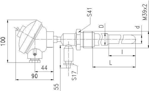 Габаритные размеры термопары ТПР-0792