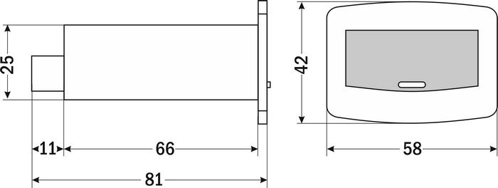 Чертеж счетчика импульсов СИ-206-Д2