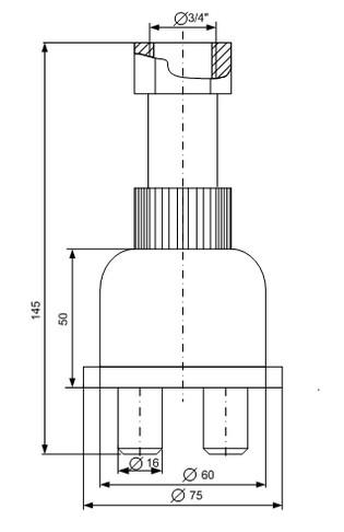 Чертеж сигнализатора уровня осадка СО-2