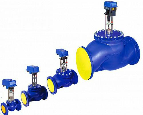 Клапаны регулирующие ВКРП с электроприводом