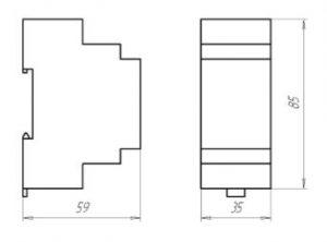 Габаритные размеры датчика давления ЗОНД-20-АД-К11