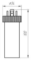 Габаритные размеры датчиков давления ЗОНД-20-К3