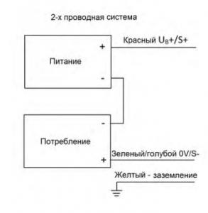 ПД-У схема 2-х провод.