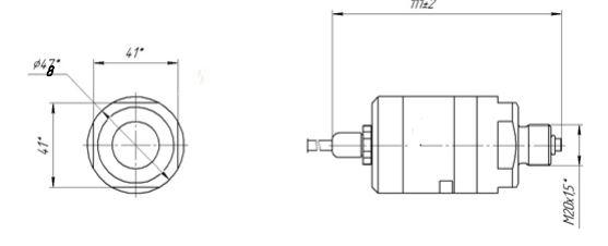 Габаритные размеры датчика давления ПД.01 M-Bus