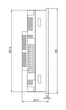 Габаритные размеры-1 автомата горения Сафар-400