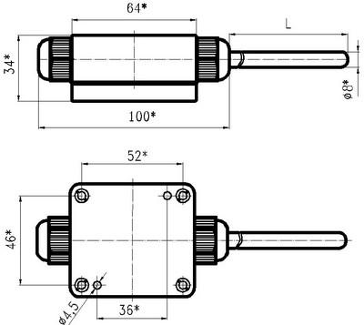 Габаритные размеры термопреобразователей ТХАУ