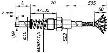Габаритные размеры ТСП-1193-02