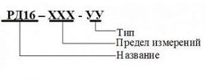 Код (форма) заказа реле давления РД-016