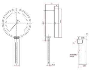 БТ-32-52-211-размер термометра