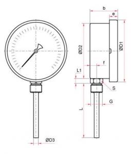 термометр БТ-52-72-220 исполнение Р