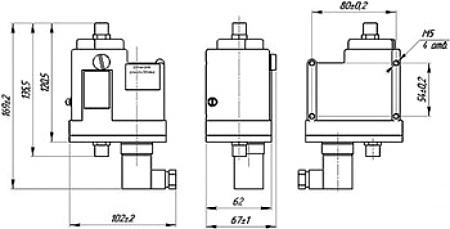 Габариты. Реле давления ДЕМ-102РАСКО