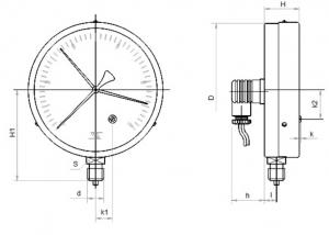 манометр ЭКМ100Вм исполнение Р