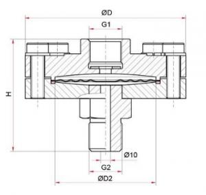 РМ-С10 присоединение разделителя сред