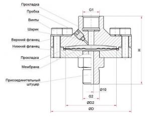 РМ-Н11 присоединение разделителя сред