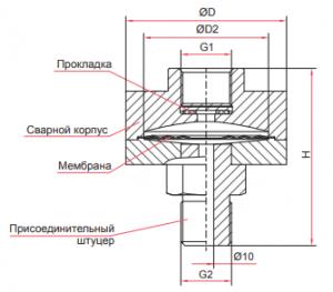 РМ-В10 присоединение разделителя сред