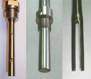 Чувствительные элементы сигнализатора уровня СЖУ-1: стержневой, кольцевой, вилочный