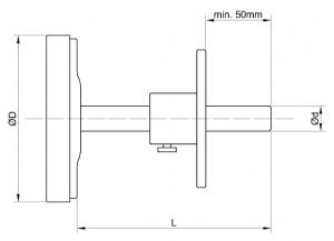 ТБП исполнение с фланцем для крепления на 3 отверстия