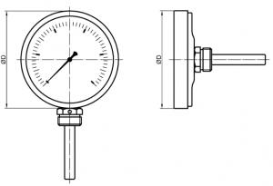 ТБП термометр исполнение Р,Т