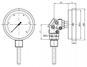 ТБП термометр, универсальное исполнение