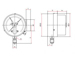 Манометр электроконтактный TM-510,610-05 исполнение Р