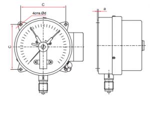 Манометр электроконтактный TM-510,610-05 исполнение РЗФ