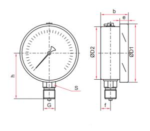 манометр ТМ-520,620 исполнение Р