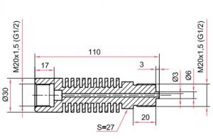 Отвод-охладитель из нержавеющей стали ОС100-ОХ28
