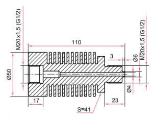 Отвод-охладитель из нержавеющей стали ОС100-ОХ50