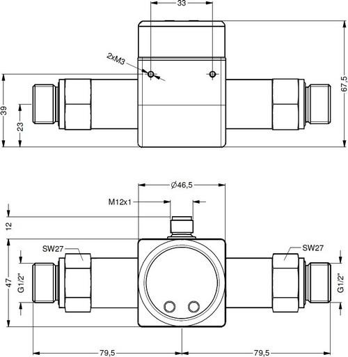 Габаритные размеры датчика давления DMD-831