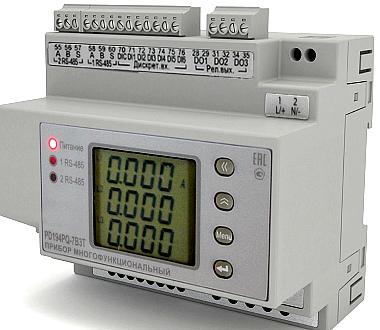 Многофункциональные приборы PD194PQ исполнения на DIN-рейку