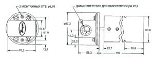 DWYER-530 реле потока воздуха размеры
