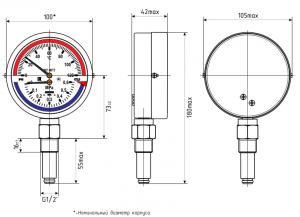 термоманометр МПТ-d100 исполнение радиальное