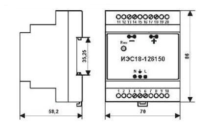 ИЭС18-126150 блоки питания для расходомеров ПРЭМ