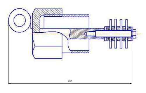 Габаритные размеры индикатора коррозии ИКТ-40