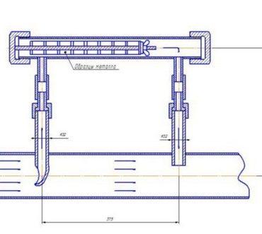Габаритные размеры индикатора коррозии ИКТ-50