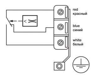 реле потока воздуха SL-1Е схема соединения