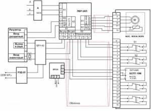 Схема подключения задатчика РЗД-22м