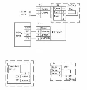 блок усилителя БУ-30М схема подключения