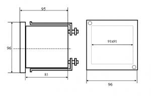 регулятор влажности и температуры ИТР-2522 размеры
