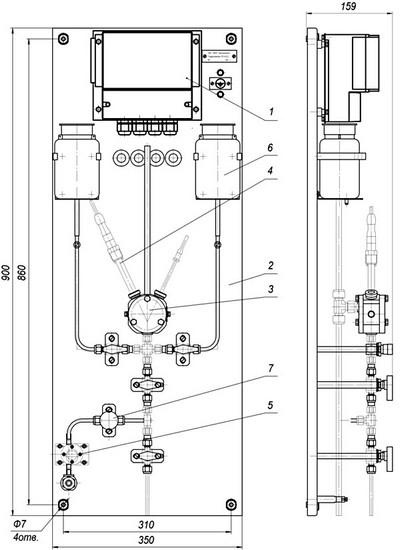 Габаритные размеры гидропанели ГП-4122.2