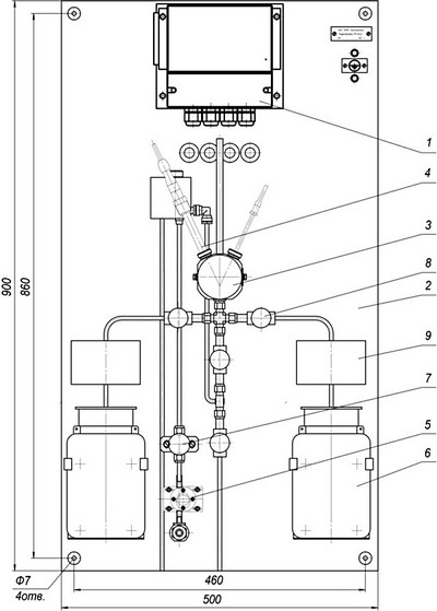 Габаритные размеры гидропанели ГП-4122.3