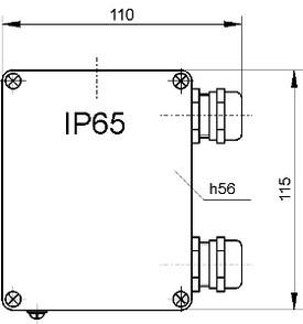 Размеры pH-4101.Д. для крепления на арматуре АПН, АМН и АПТ