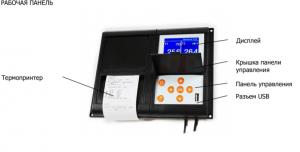 термограф RMS-010 рабочая панель
