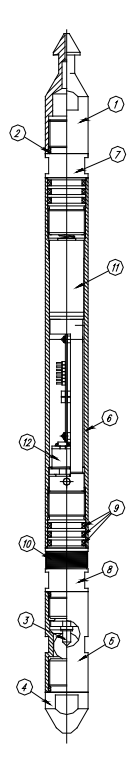 САМТ-02,-03 устройство и схема глубинного манометра-термометра