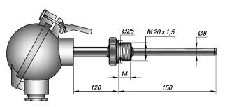 Термометры сопротивленияТСПТ-201К-020