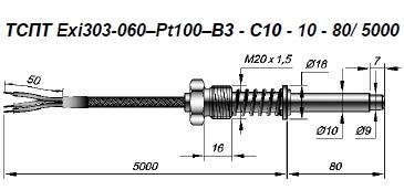 Термометры сопротивления ТСПТ, ТСМТ 303, 304