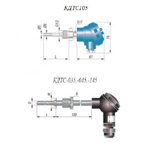 термометр сопротивления КДТС-105,-035,-045,-145 размеры
